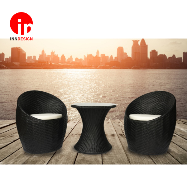 Outdoor 1+2 Coffee Table Set W/ Cushion / 1+2 Sofa Set / Lounge Chair / Relax Chair (Free Delivery)