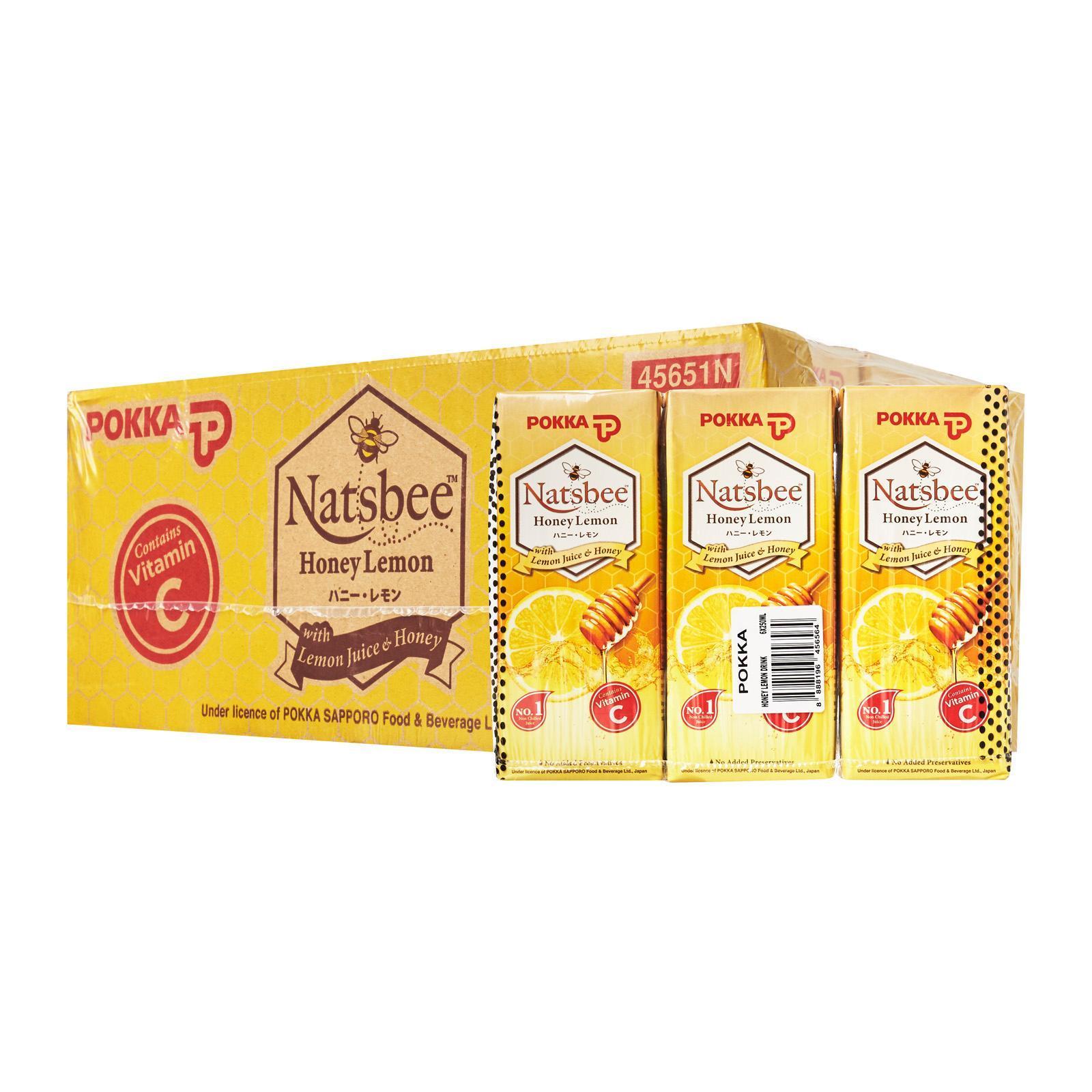 Pokka Natsbee Honey Lemon Juice Drink - Case