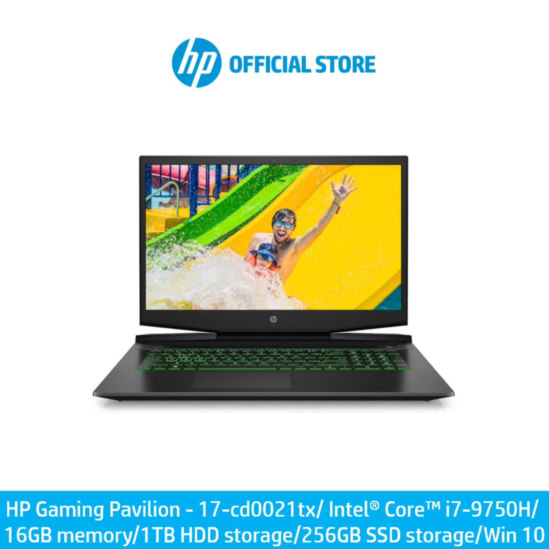 HP Gaming Pavilion - 17-cd0021tx/ Intel® Core™ i7-9750H/ 16 GB memory/ 1 TB HDD storage/ 256 GB SSD storage/ Win 10