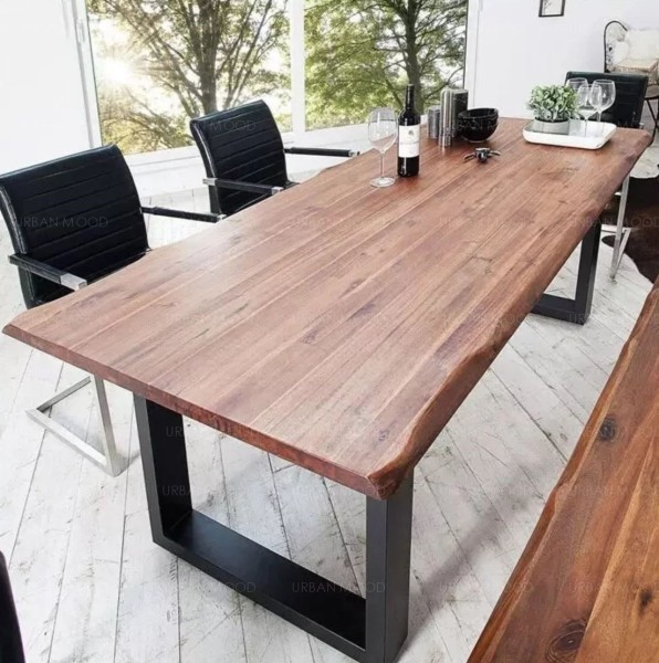 [PRE-ORDER] KYLE Modern Industrial Solid Wood Table