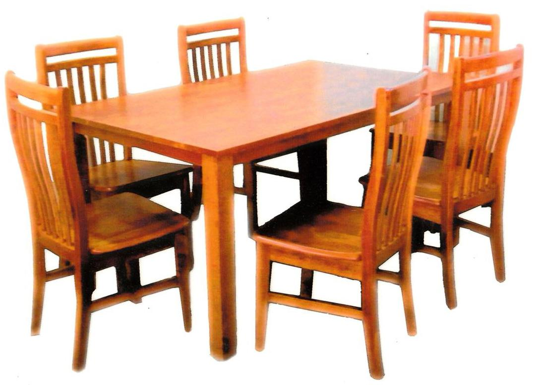 [A-STAR] 6 PIECE WOODEN DINING CHAIR COMBO (NO TABLE)