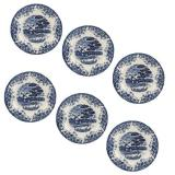 Cheapest Claytan 10 Dinner Plate Blue Windmill X185B Set Of 6 Online