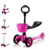 Sale Cmax 3In1 Flashing Led Wheels Kids Scooter Pink On Singapore