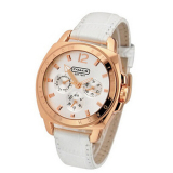 Price Coach Style Women S White Leather Strap Watch On China