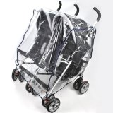 Sales Price Cocotina Transparent Baby Outdoor Nipper Double 360 Stroller Rain Cover Windproof Anti Dust Side By Side