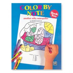 Color by Note, Book 2: Another Nifty Notespeller by Sharon Kaplan - Colour Book - Piano Book - Music Book - Absolute Piano - The Music Works Store MB1