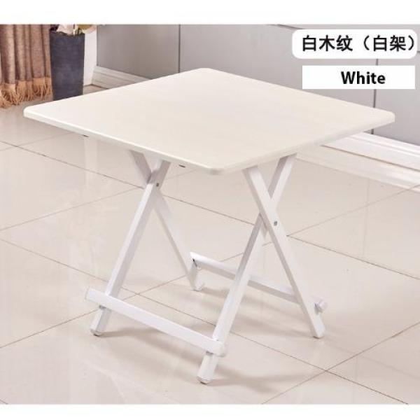 Colorful Folding Portable Foldable Table - White 60 x 54(h)cm