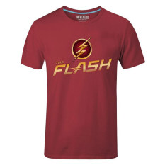 Buy Cosplay Men S Dc The Flash Flag And Logo T Shirt Red Cheap China