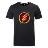 Compare Price Cosplay Men S Dc The Flash Flag T Shirt Black On China