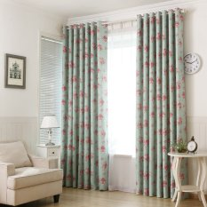 Sale Countryside Flowers Print Top Silver Grommets Blackout Curtain Gyc2139 1 Green Export Not Specified Wholesaler