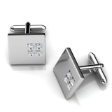 Discount Square 2 Cufflinks Crystals From Swarovski® Her Jewellery On Singapore