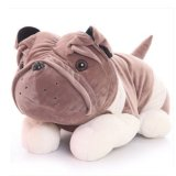 Low Price Cute Dog 9 Inch Plush Doll Stuffed Soft Animal Toy Husky Pug Dog Gray Color Export