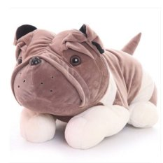 Best Rated Cute Dog 9 Inch Plush Doll Stuffed Soft Animal Toy Husky Pug Dog Gray Color Export