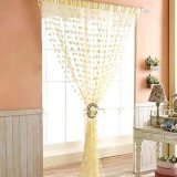 Sale Cute Heart Line Tassel String Door Curtain Window Room Divider Curtain Valance Not Specified