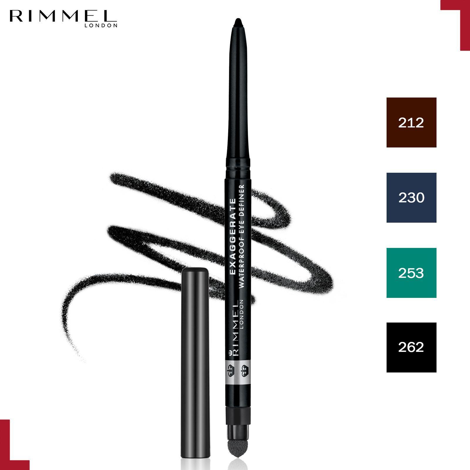 Rimmel Exaggerate Waterproof Eye Definer 262- Blackest Black