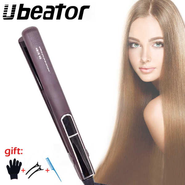 Buy Korean Professional Ceramic Wide Plate Hair Straightener Fast Heating Flat korea Iron Dual Voltag 3D Floating Styling Tools Singapore