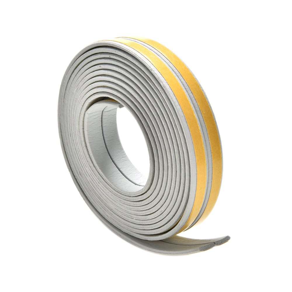 GUDE001 5M E/D/I-type Foam Draught Self Adhesive Window Door Excluder Rubber Seal Strip