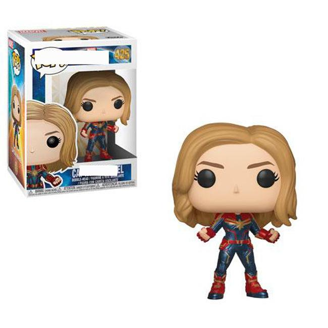 FUNKO pop Surprise Captain Model Captain Marvel Movie Surrounding Limited Chicken Head 425# Camel