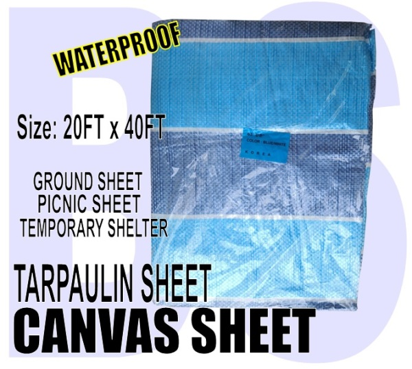 BANSOON Waterproof Canvas Sheet 20FTX40FT (600cm x 1219cm). Picnic sheet. Construction. Lorry Shelter. Goods Cover.
