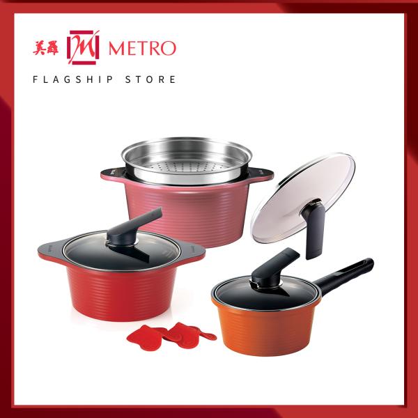 Happycall Alumite High Pure Ceramic 3pc Die Cast Pot & Steamer Set 3900-2260 Singapore