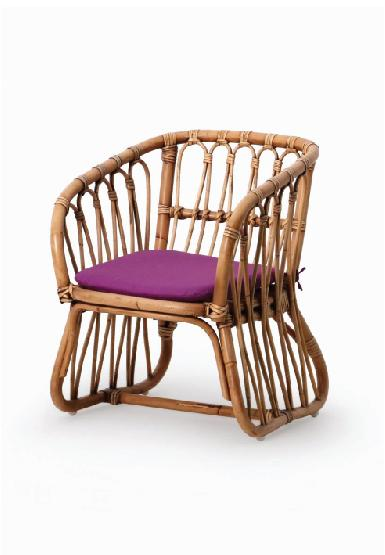 Sustainable Kid Rattan Chair with cushion include