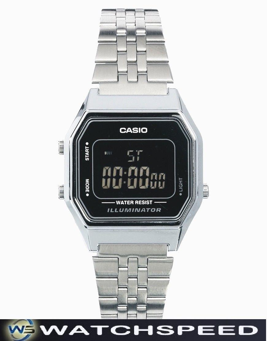 d2418c034 Casio LA-680WA-1B LA680WA-1B Ladies / Womens Standard Digital Silver  Stainless