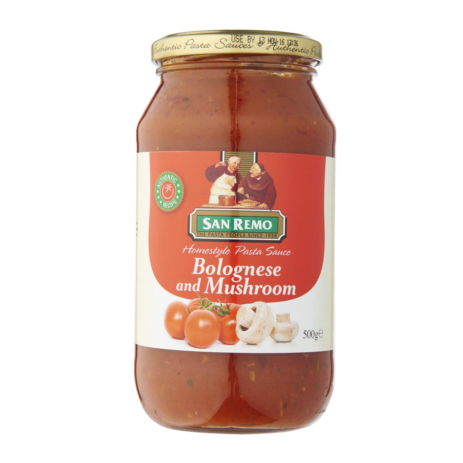 San Remo Pasta Sauce - Bolognese and Mushroom