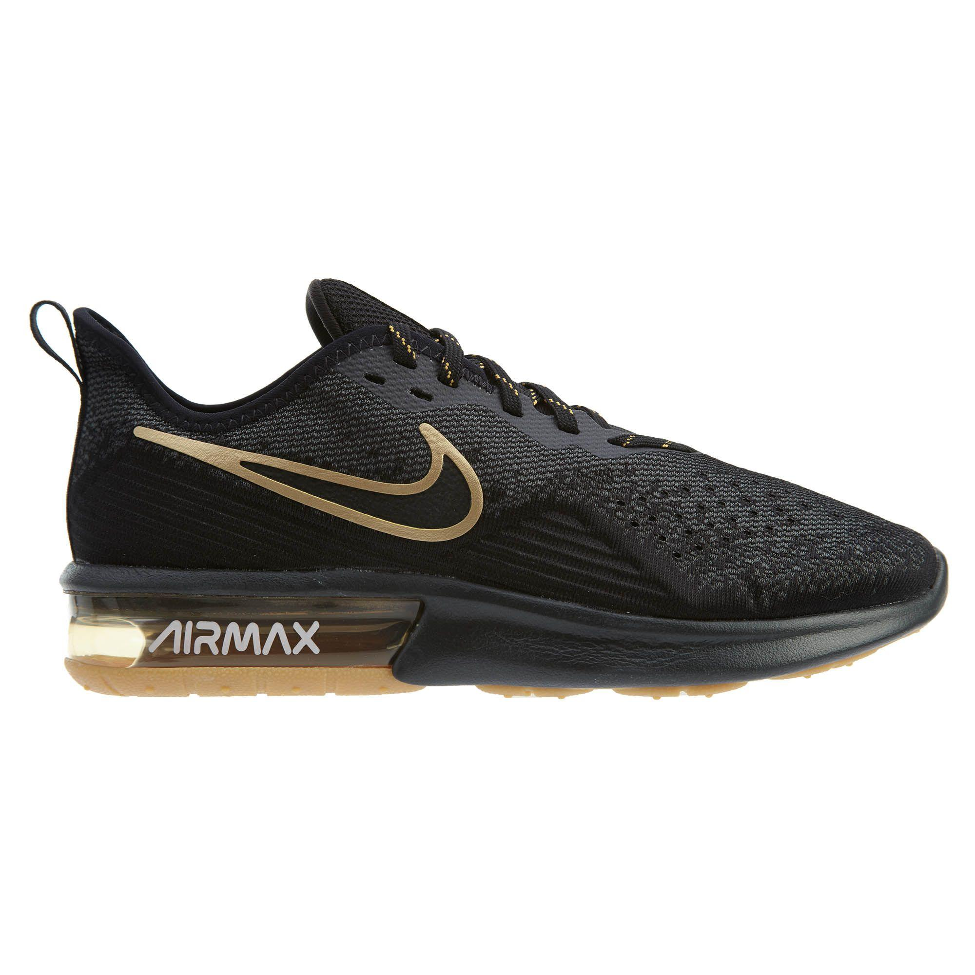 Nike Air Max Sequent 4 Men Shoes (Black Gold) AO4485 005