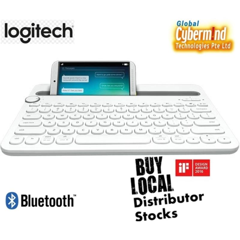 (PROMO) Logitech K480 White Bluetooth Multi-Device Keyboard (iOS, Android, OSX, iPhone) (Local Distributors stocks) Singapore