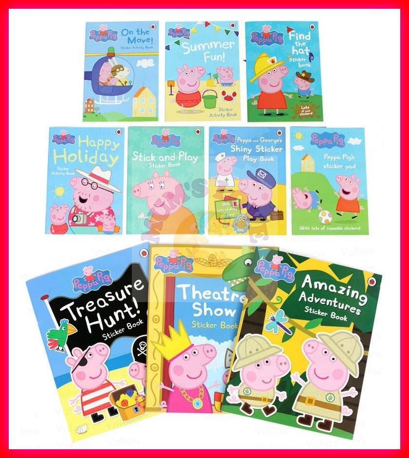 Peppa Pig Sticker Book Activity Books (10 Books Set)