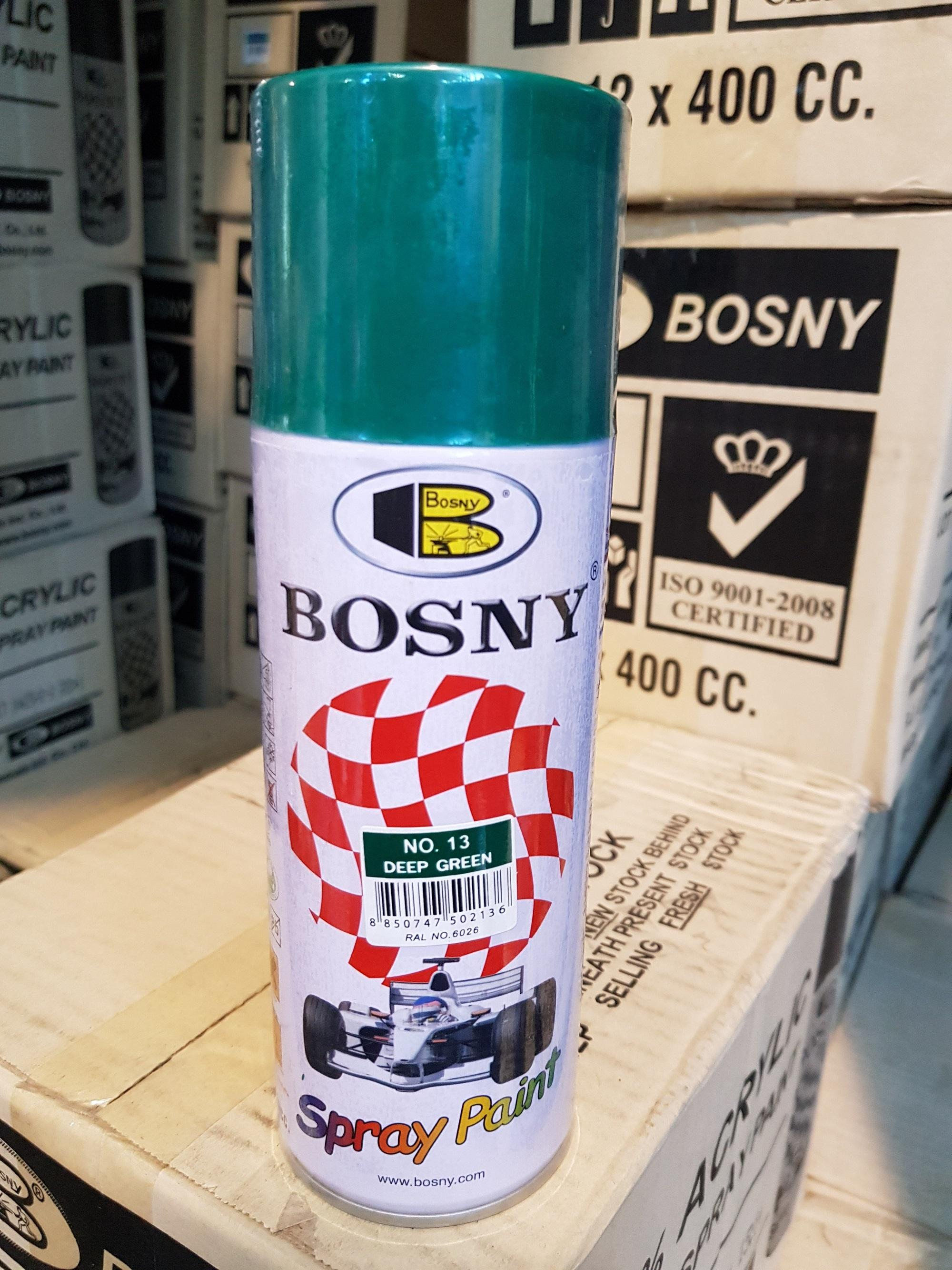 BANSOON BOSNY Spray Paint - Deep Green No. 13 (100% Acrylic) Quick Dry Highly durable