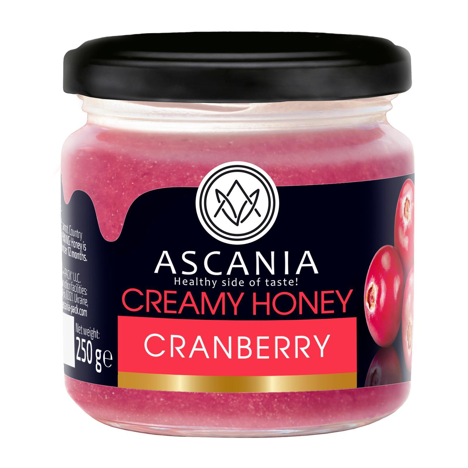 Ascania Creamy Honey With CRANBERRY