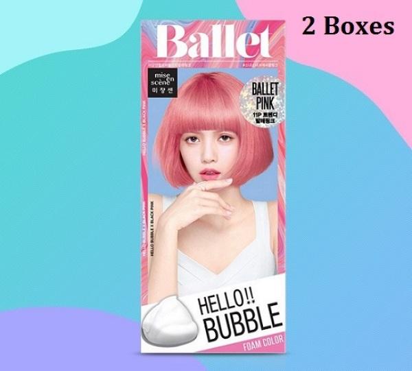 Buy Korea Mise En Scene Hello Bubble Foam Hair Dye; DIY Beauty Hair Color Kit; Include Conditioning & Treatment; 11P Ballet Pink x 2; Smoove1 Singapore