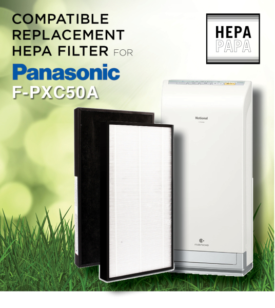 Panasonic F-PXC50A Compatible Replacement HEPA Filter [Free Alcohol Swab] [SG Seller] [7 Days Warranty] [HEPAPAPA] Singapore