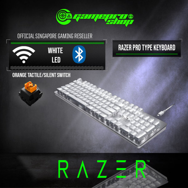 Razer Pro Type Wireless Mechanical Keyboard- RZ01-03070100-R3M1-(2Y) Singapore