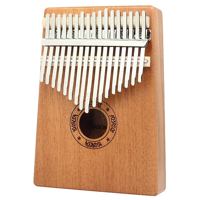 Kalimba Thumb Piano 17 Keys Mahogany Wooden Finger Percussion for Music Lover Beginners Children Malaysia