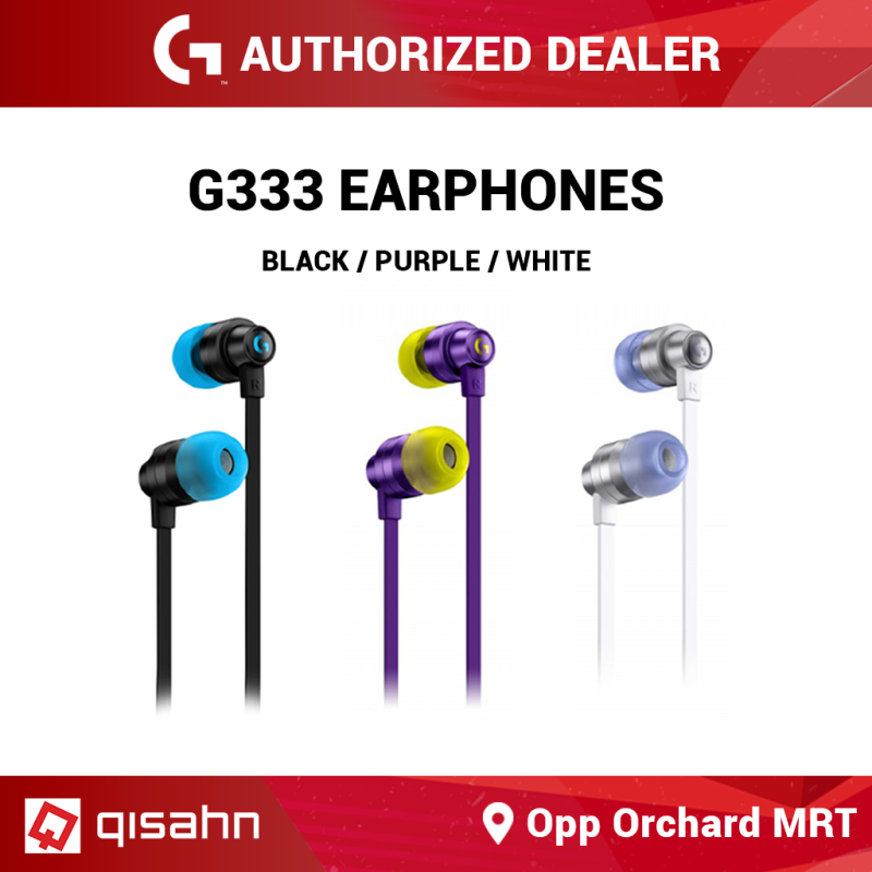 Logitech G333 Gaming Earphones with Mic and Dual Drivers Singapore