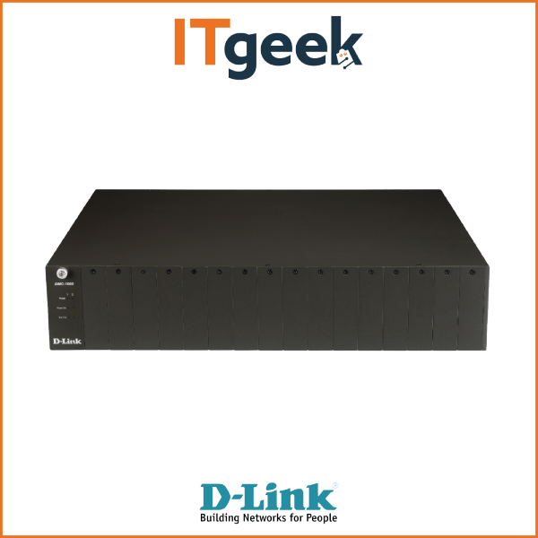 D-Link DMC‑1000 | 16 Slot Chassis for DMC Series Media Converters