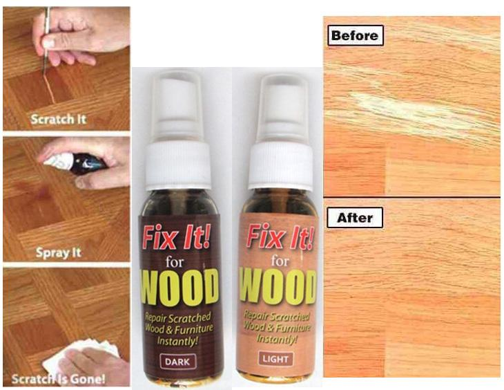 Fix Wood Fast Action Wood Scratch Remover for Wood Surfaces Repair Kit