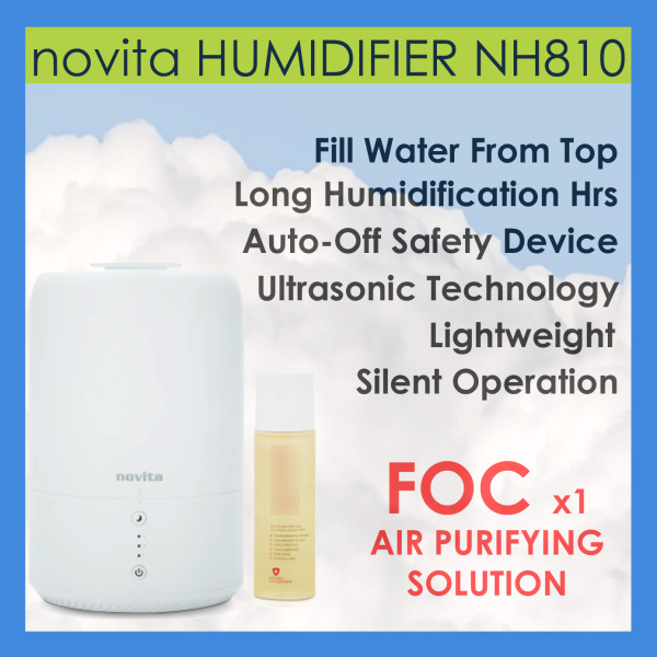novita Humidifier NH810 Bundle with Air Purifying Solution Concentrate Singapore