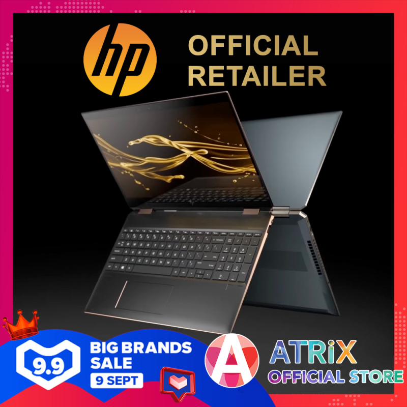 【Same Day Delivery】2020 HP Spectre x360 2-1 15.6inch〖Free Office 2019〗15.6 4K AMOLED Touch screen | i7-10750H | 16GB RAM | 1TB SSD | GTX1650Ti | Win10 Home | 2Yrs HP Onsite warranty + 1Yr ADP | HP Spectre x360 Laptop - 15-eb0017tx