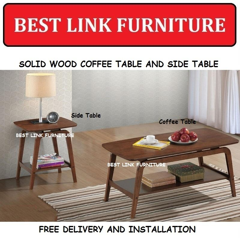 BEST LINK FURNITURE BLF Nirene Solid Wood Coffee Table / Side Table