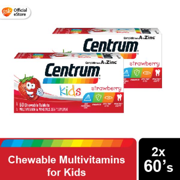 Buy [Bundle of 2] Centrum Kids Chewable Tablets Strawberry 60s Singapore