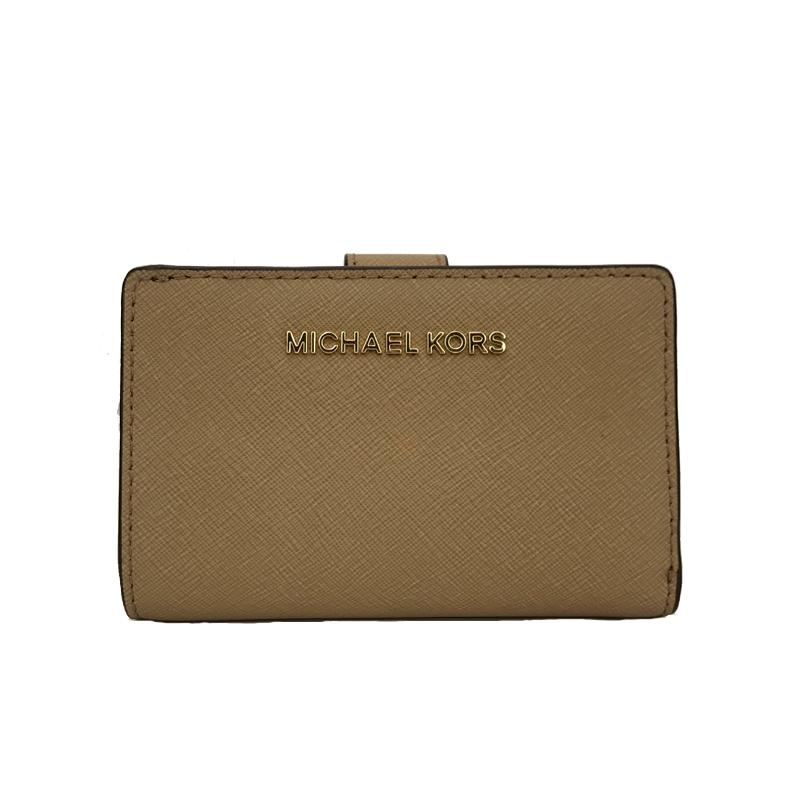 5b11bcf4ef92 Michael Kors Jet Set Travel Bifold Zip Coin Wallet Gold Hardware