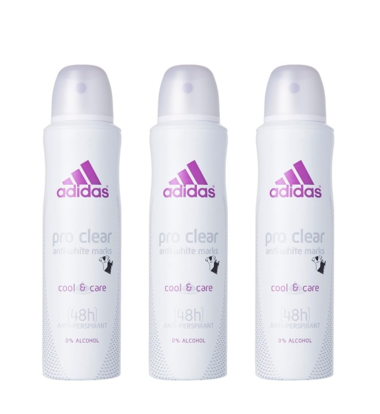 Buy (BUNDLE OF 3) ADIDAS PRO CLEAR DEODORANT SPRAY (WOMAN) 150ML Singapore