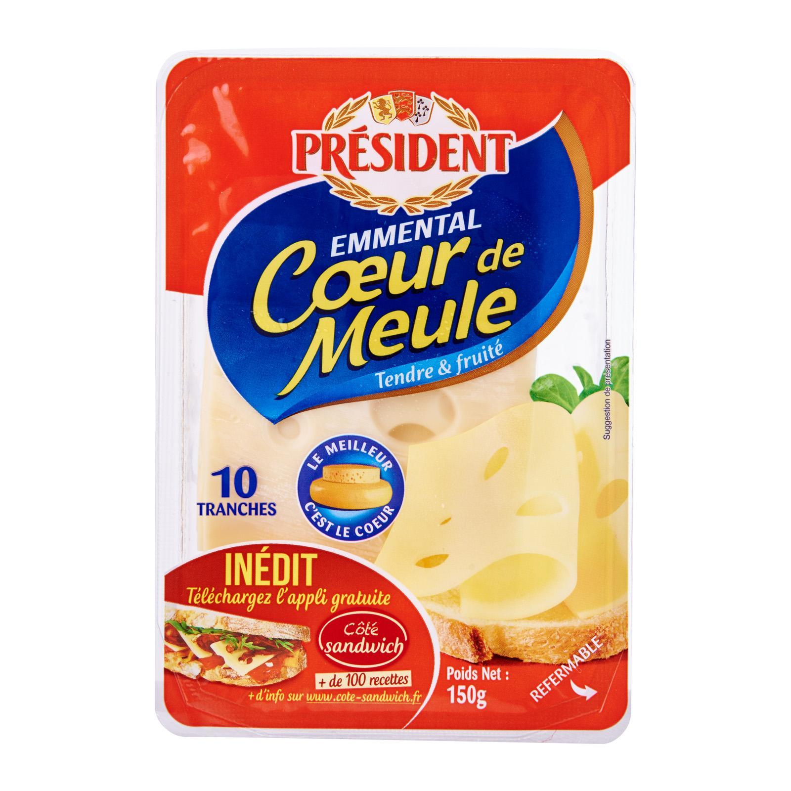 President Emmental Cheese Slices