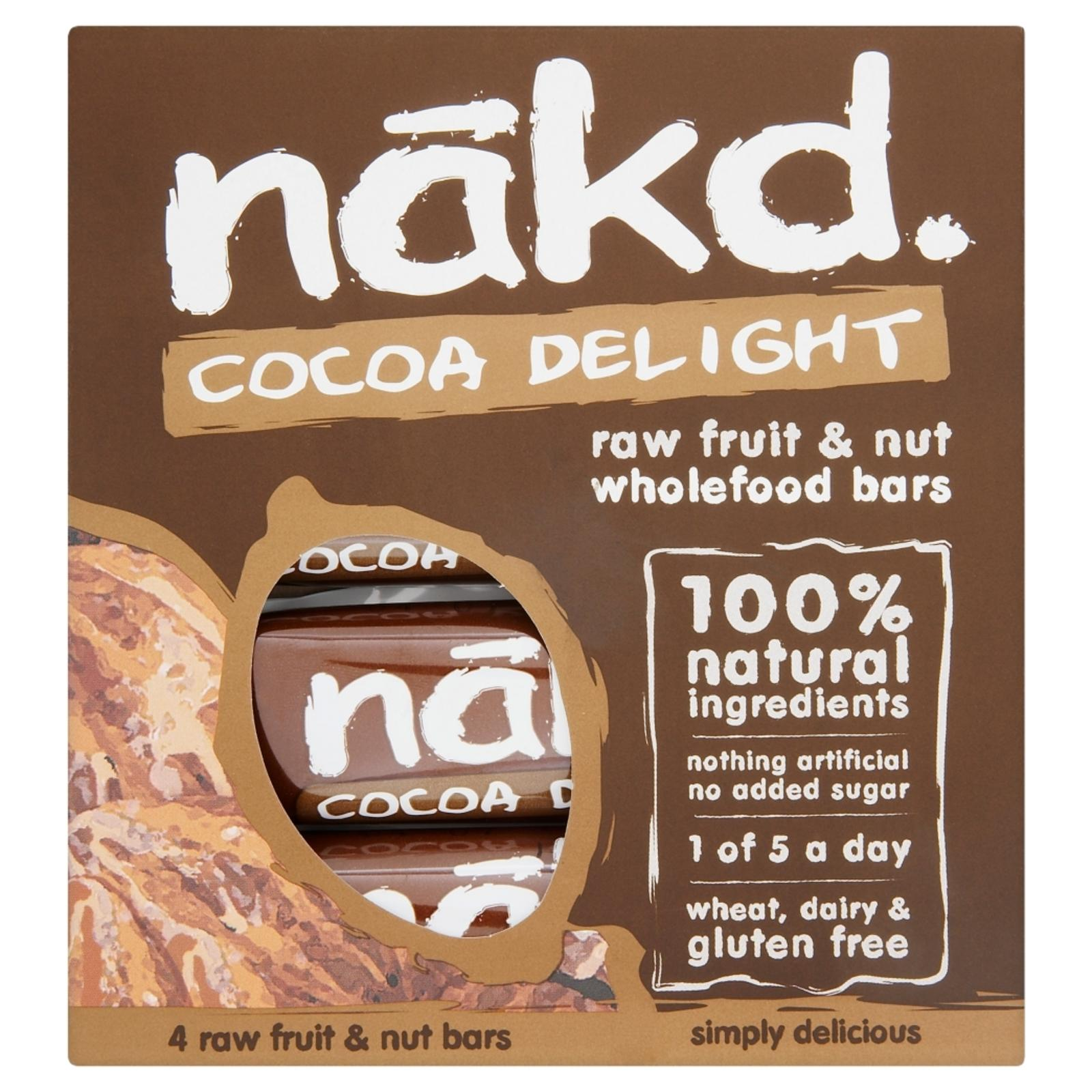 Nakd Gluten Free Cocoa Delight Wholefood Bar By Redmart.