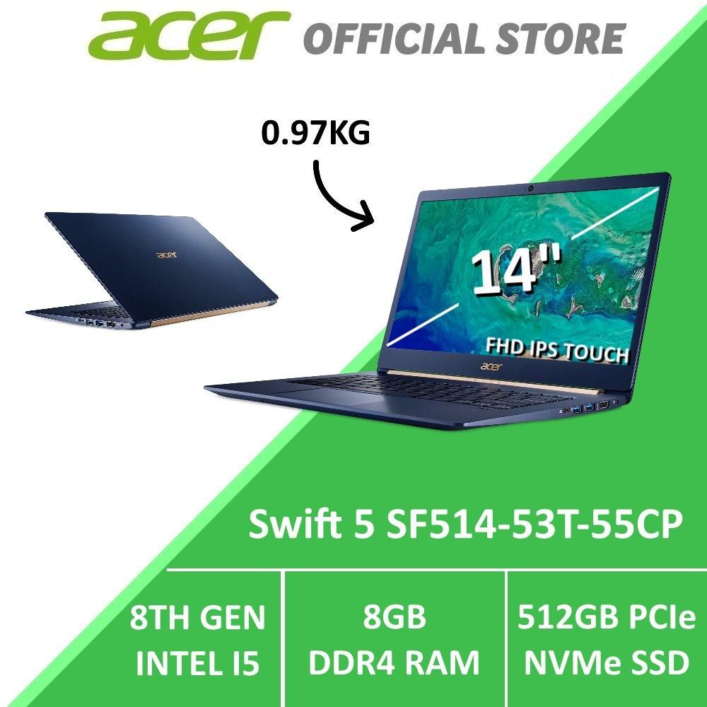 Acer Swift 5 SF514-53T-55CP 14-inch Intel i5 Thin and Light Laptop (Blue)