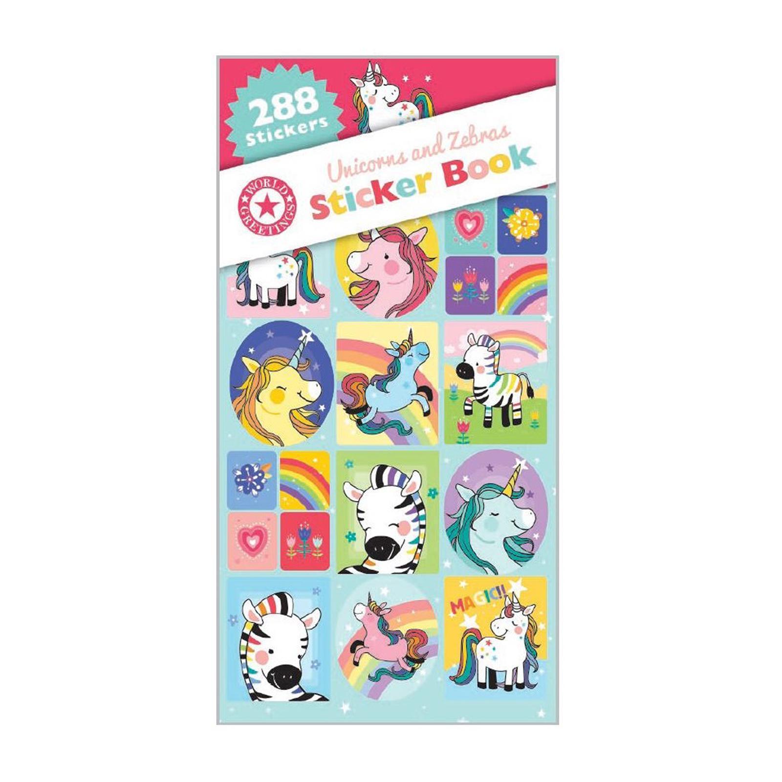 Artwrap Party Sticker Book - Unicorns And Zebras