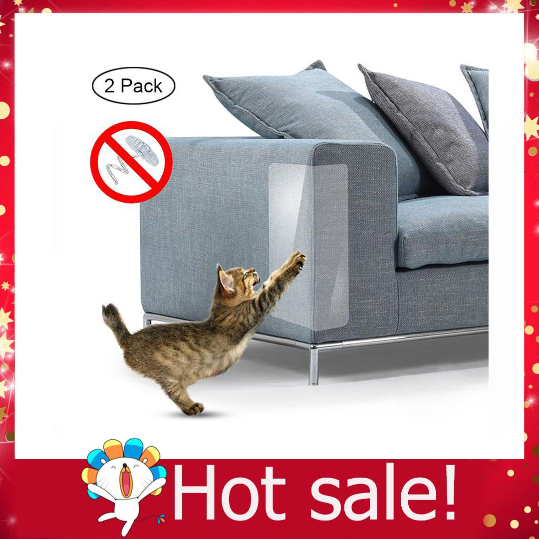 Cat Scratch Furniture, 2 Pcs Clear Premium Heavy Duty Flexible Vinyl Pet Couch Protector Guards For Protecting Your Furniture, Stops Scratching Cats Furniture Protector By Ltplaza.